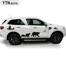custom car decals 8 pcs mountain forest decal bear graphic vinyl  stickers for SUV PICKUP