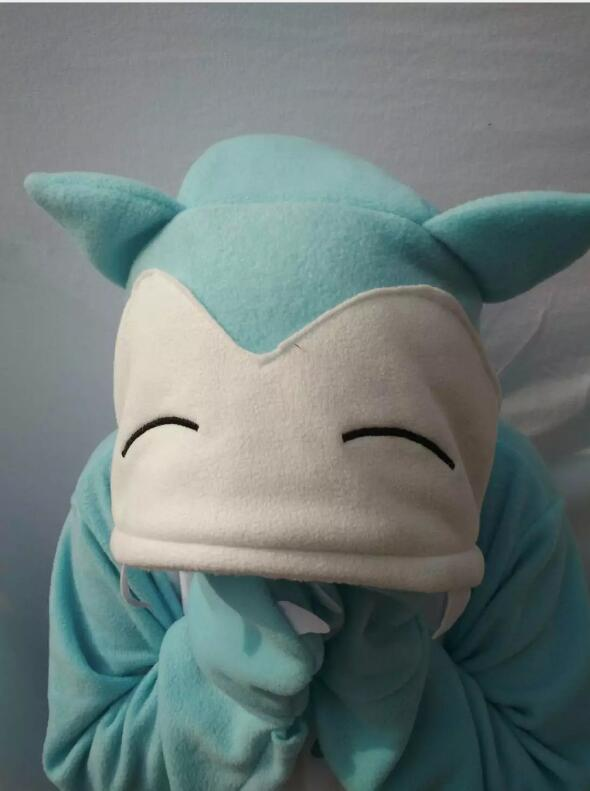Women's Costumes Novelty & Special Use Active Japanese Anime Poke Mon Fat Cute Snorlax Onesie Umbreon Cosplay Costume Fleece Sleepwear Pajamas Halloween Party Jumpsuit