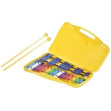 Красочные 25 нот Glockenspiel ксилофон ударный ритм образовательный инструмент музыкальная игрушка ручной чехол для детей