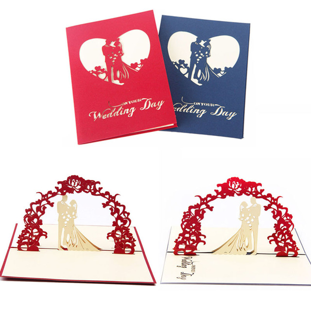 Handicraft 3d pop up greeting cards wedding valentines anniversary handicraft 3d pop up greeting cards wedding valentines anniversary invitations personalised invitation card stopboris Choice Image