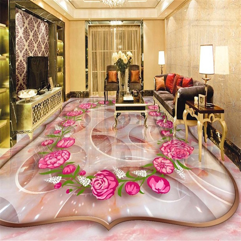 beibehang Rose marble three-dimensional jade carving 3d flooring tile painting papel de parede para quarto 3d wallpaper tapety beibehang beautiful rose sea living room 3d flooring tiles papel de parede para quarto photo wall mural wallpaper roll walls 3d