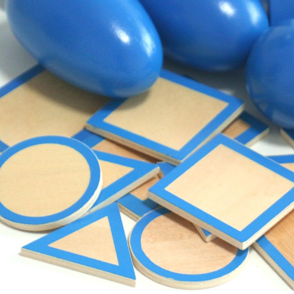 Montessori jouets éducatifs en bois solide géométrie bloc préscolaire en bois Montessori jouets d'apprentissage pour 2 3 4 ans B1667T - 4