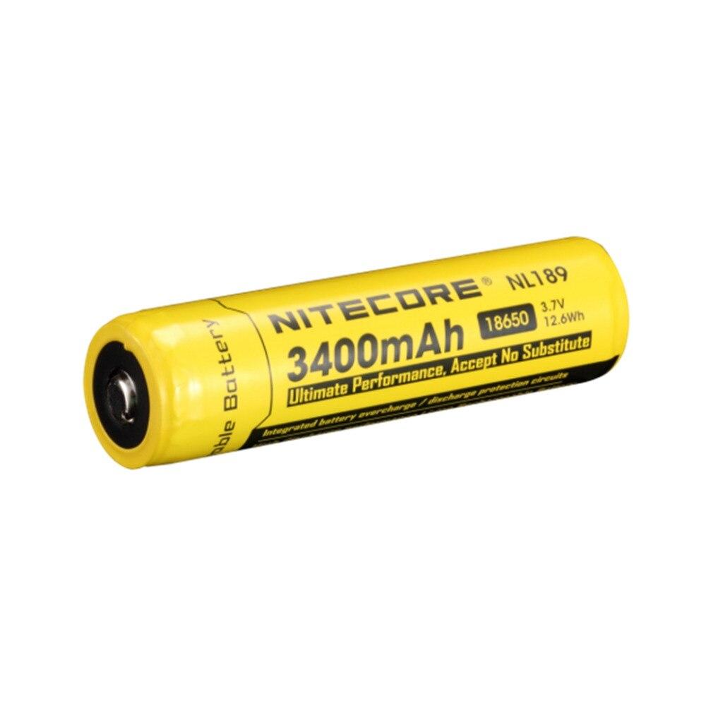 2016 Nitecore NL189 18650 3400mAh 3.7V Rechargeable Li-ion battery Free shipping panasonic ncr18650b super max 3 7v 3400mah rechargeable li ion battery black green 2 pieces