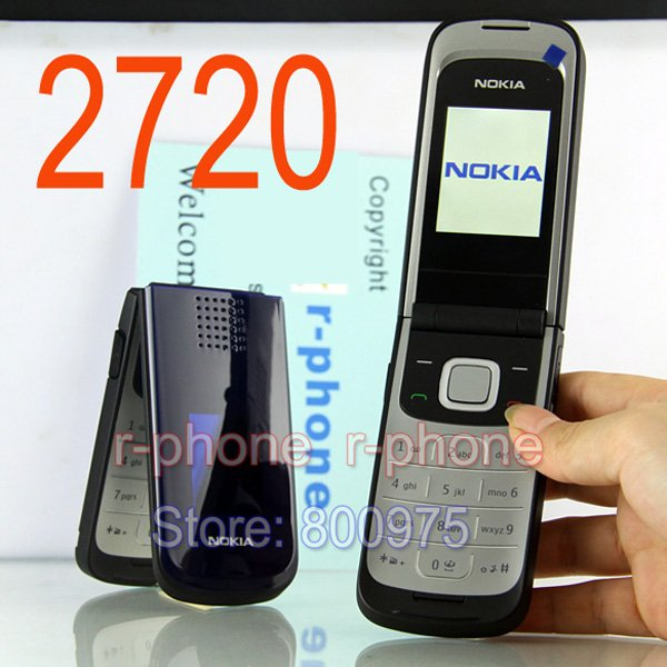 Image 2 - Hot sale Original Nokia 2720 Mobile Phone 2G GSM tri band Unlocked Russin Arabic keyboard Refurbished Cheap Phone-in Cellphones from Cellphones & Telecommunications