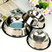 Pet Bowl Teddy Stainless Steel Travel  Comedero Perro Dog Bowls Cat Food Container