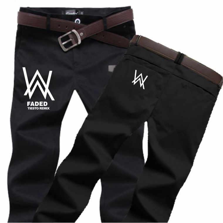 Alan Walker, потертый джинсы с тем же абзацем мужские костюмы для косплея и wo мужские DJ повседневные Прямые хлопковые брюки
