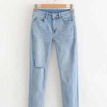 Новое поступление HY63-8670 европейских и американских модных пушистых джинсов