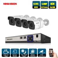 5MP 4CH Audio Record NVR System Video Surveillance Kit POE NVR Kit Home Security Camera System IP Camera Outdoor CCTV Set