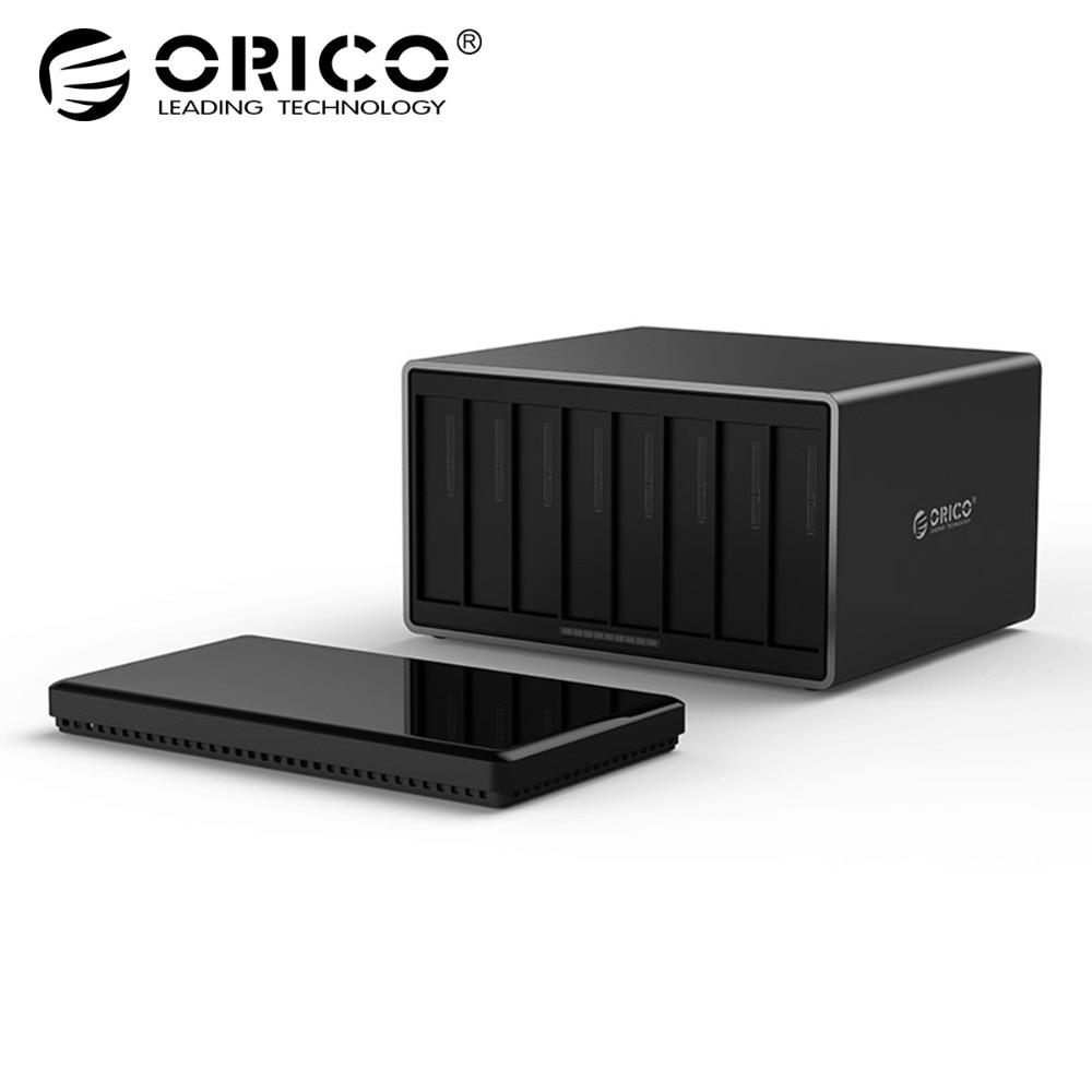 ORICO 3.5 pollice 8 Bay USB 3.0 Hard Drive Enclosure SATA a USB 3.0 External Hard Drive Docking Station Supporto 80 tb 5 Gbps UASP