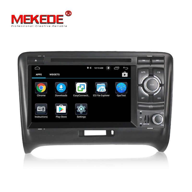Android8.1 Quad-core 2din аудио автомобиля для AUDI TT 2006-2013 поддержка dvd плеер gps Навигатор Радио ipod BT wi-Fi TDA 7851
