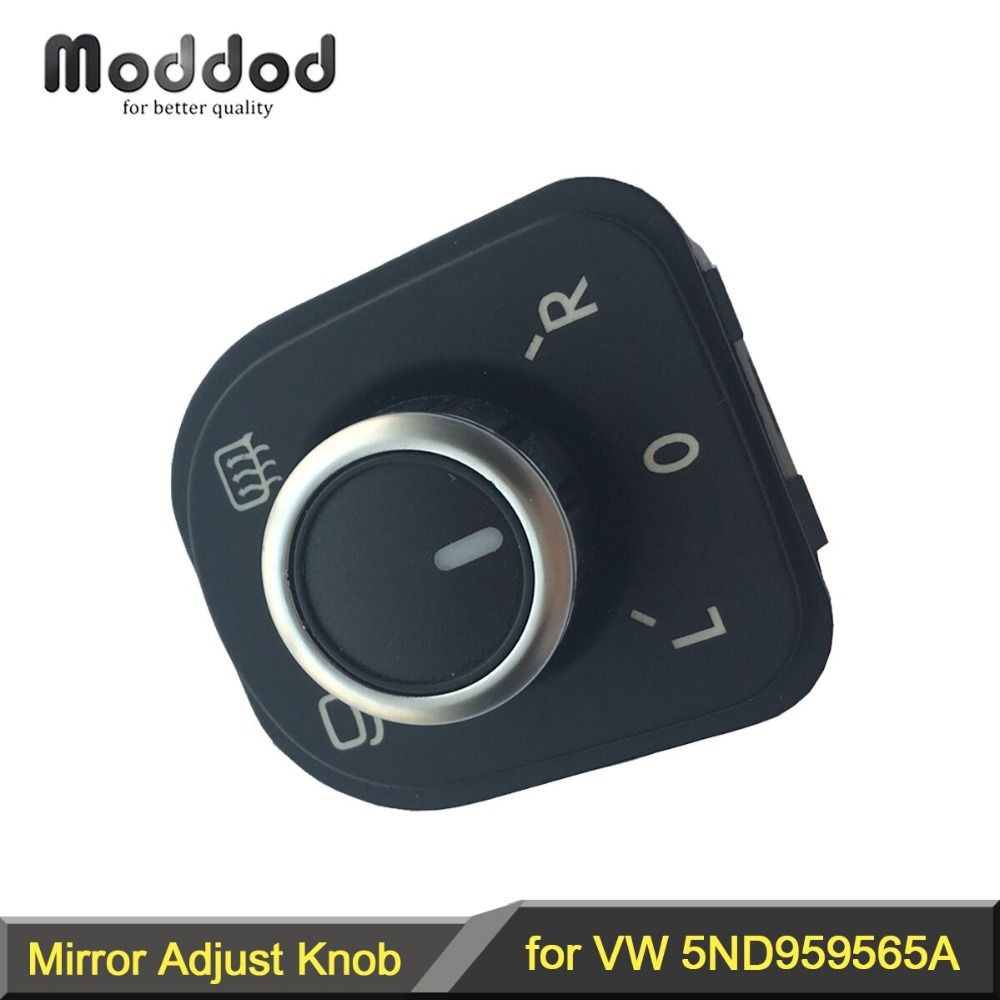 Chrome Mirror Mirror Adjustment Switch Rotary Wheel for Your VW