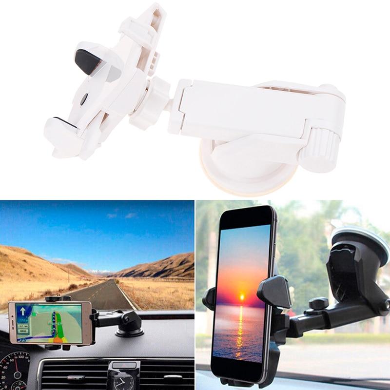 360 Rotation Holder for Phone in Car Auto Long Lever Windshield Suction Cup Stand Support Mount Bracket for Mobile GPS Navigator suporte de celular para parabrisa