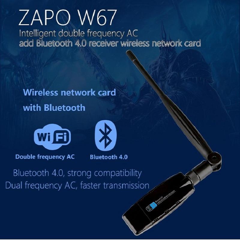 ZAPO 5G WiFi USB Bluetooth 4.0 Adapter Dualband Wireless AC 600M High - Netzwerkausrüstung - Foto 2