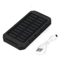 Wopow Solar 20000mAh Power Bank Multifunction Portable Charger PowerBank LED Light Dual USB Large Capacity Waterproof
