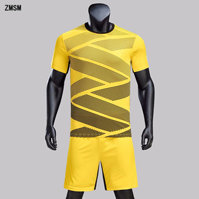 be8da0e4 US $14.48 23% OFF|ZMSM Kids Adult Soccer Jerseys Sets Men Football Uniform  Short sleeve Training Suit Boys & Girls Quick Dry Sports clothes QD1805-in  ...