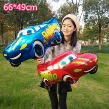 1pcs/lot 66*49cm The New Cartoon Cars Mai Kun Aluminum Balloon Inflatable Helium Foil Balloons Toys Kids Birthday Party Supplies(China)