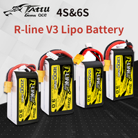 TATTU R Line Version 3.0 V3 4S 6S 1300/1550/1800/2000mAh 120C 14.8V Lipo Battery with XT60 Plug for FPV Racing Drone Quadcopter