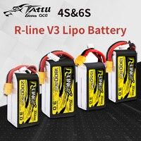 TATTU R Line Version 3.0 V3 4S 6S 1300/1550/1800/2000mAh 120C 14.8V Lipo Battery with XT60 Plug for FPV Racing Drone Quadcopter