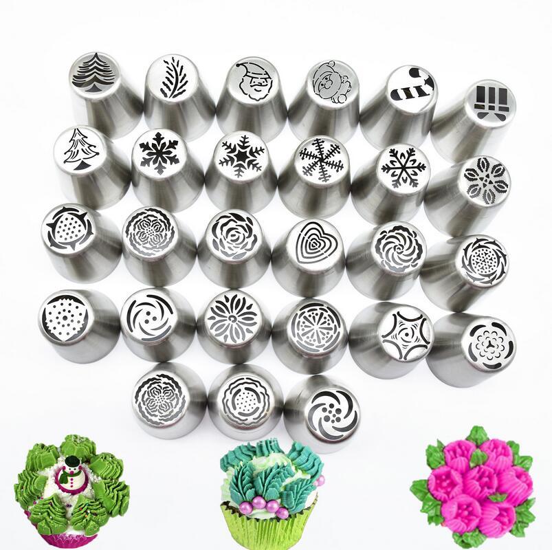 30 pezzi/set Russo Piping Punte Di Natale Disegno Icing Piping Consigli Set Cake decorating Supplies Russo Ugelli Pasticceria Strumento