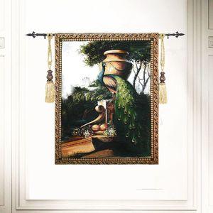 Павлина стены гобелены aubusson бельгийский Настенный Ковер марокканский декор современного дома настенные декорации декоративные гобелены