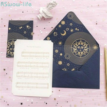 3set Premium Confession Gilding Greeting Card with Envelope Starry Sun Valentines Day Set