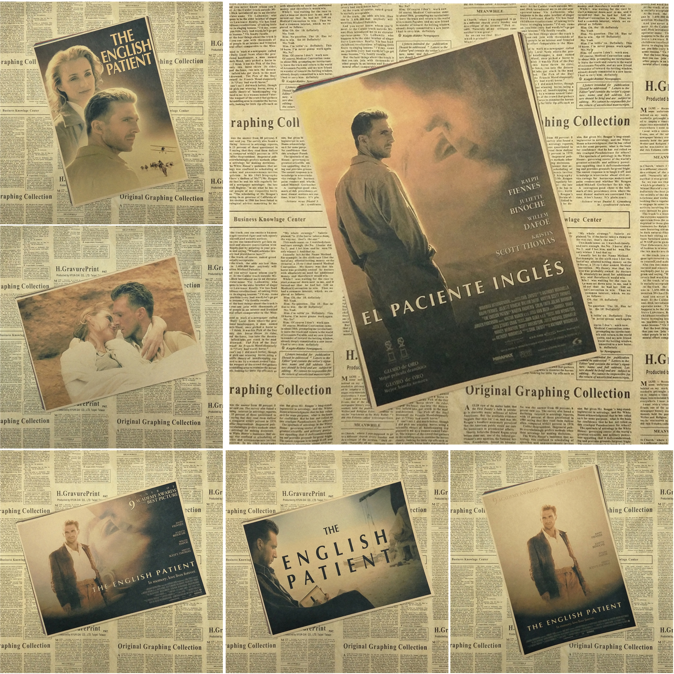 The English Patient Classic Movie Kraft Paper Poster Bar Cafe Living ...