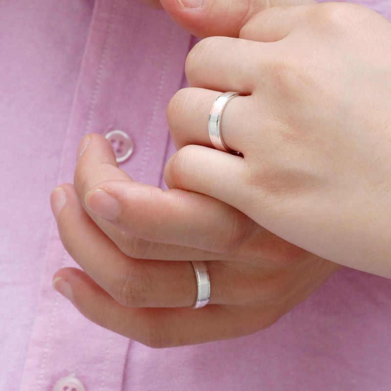 OMHXZJ ขายส่งยุโรปผู้หญิงผู้หญิงแฟชั่นผู้หญิงงานแต่งงานของขวัญเงินคนรักง่าย 925 เงินสเตอร์ลิงแหวน RR205