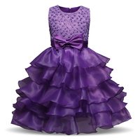 Summer Brand Kids Dresses For Girls Lush Ruffles Prom Gown Children S Clothing Girl Homecoming Party