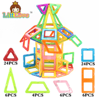 Littlove 70 Pcs Magnetic Designer Construction Set Model Building Toy Plastic Magnetic Building Toys 3D Diy