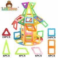Littlove 70 Pcs Magnetic Designer Construction Set Model Building Toy Plastic Magnetic Building Toys 3D Diy