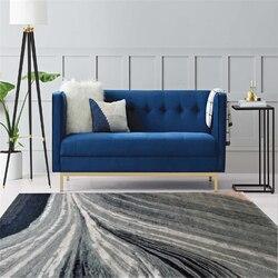 Nowoczesny abstrakcyjny niebieski szary dywan w paski dywan do salonu pokój dziecięcy dywaniki do sypialni antypoślizgowe i przeciwzmarszczkowe maty podłogowe