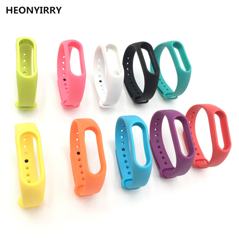 HEONYIRRY Colorful Silicone Wrist Strap Bracelet Double Color Replacement watchband for Miband 2 Xiaomi Mi band 2 Wristbands miband 2 silicone wrist strap bracelet double color replacement watchband for original xiaomi mi band 2 wristbands belt rubber