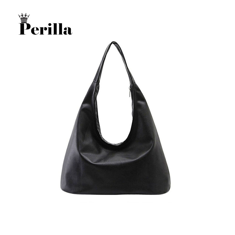 Perilla High Quality Women Tote Brands PU Leather Women Handbag Hobos Purse Women Pouch Bolsa Feminina Shoulder Bag Female Bag hot spanish vintage style pu leather tote women bag new purse and handbag retro female shoulder bags clutch bolsa feminina canta