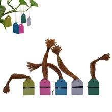 60 шт., бирки для растений, этикетки и бренды, садовый цветочный горшок для рассады, пластиковая бирка, табличка с номером, подвесной многоразовый инструмент из ПВХ