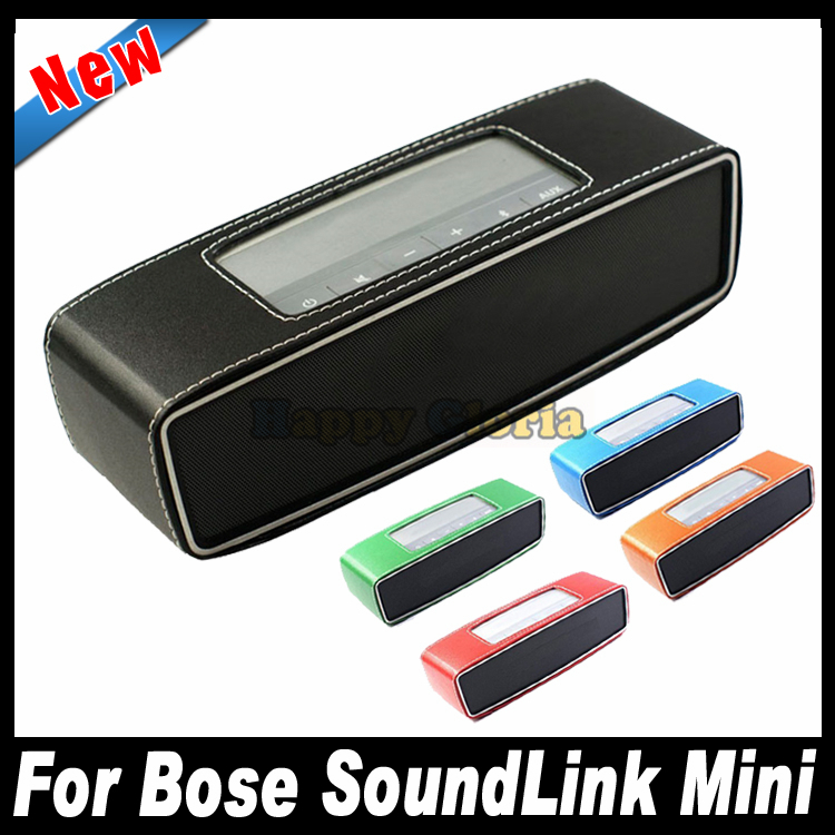 Portable Travel Case Cover Protector Carry Pouch PU Leather Bumper For Bose SoundLink Mini Bluetooth Speaker Free Shipping