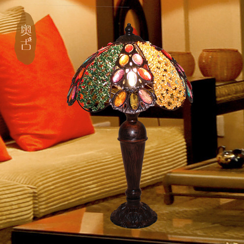 Bohemian Bar Continental decorative lamp creative retro aesthetic study bedroom bedside lamp A-79