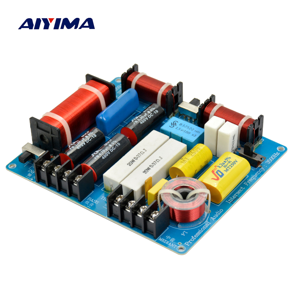 AIYIMA 1PC 350W 3 Ways Crossover Audio Board Tweeter+Mediant+Bass Frequency Divider For 4-8Ohm DIY KTV Stage Speaker Filter