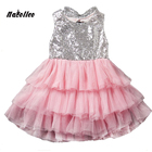 Save 0.65 on 2017 Infant Baby Girls Dress Bowknot Sequined Dress Princess Tutu Cake Dresses Hollow Out Toddler Kids Bowknot Party Dresses