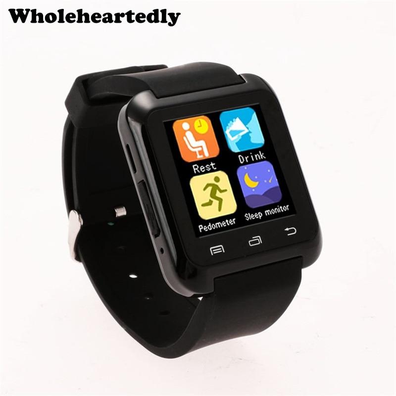 Yeni Bluetooth Akıllı Izle Moda Rahat Android İzle Dijital Spor Bilek iOS Android Telefon Smartwatch Için LED İzle Çifti