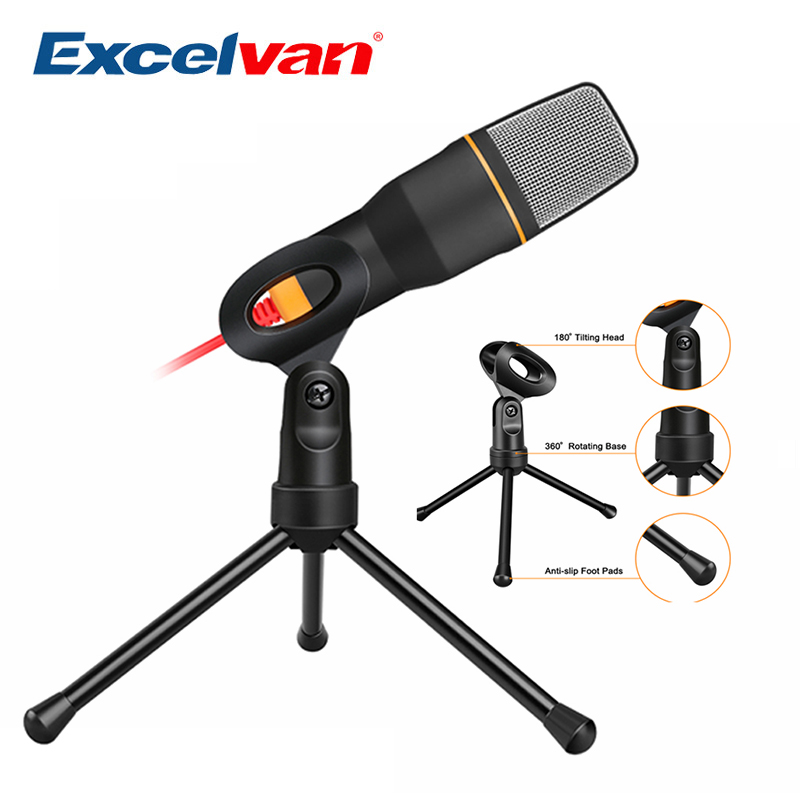 Foru-1 Professional 3.5mm Podcast Studio Microphone Mic for Skype Desktop PC