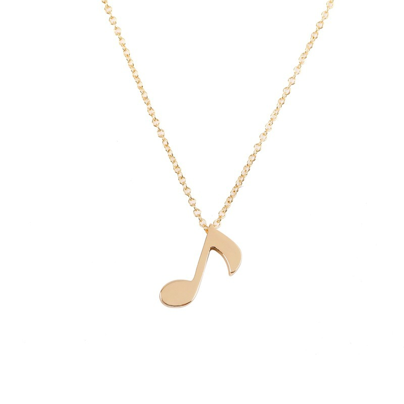 Delicate gold silver plated pendant musical note pendant necklace delicate gold silver plated pendant musical note pendant necklace unique design music note necklace for women fashion gift in pendant necklaces from jewelry aloadofball Choice Image