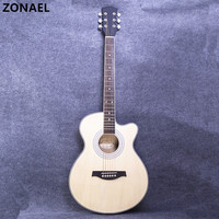 ZONAEL Hot 40 Inch High Quality Acoustic Guitar Rosewood Basswood Folk Guitarra With 6 Strings Beginners To Practise The Harp
