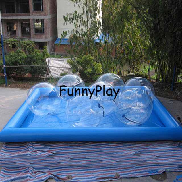 inflatable water ball pool heated inflatables pools. Black Bedroom Furniture Sets. Home Design Ideas