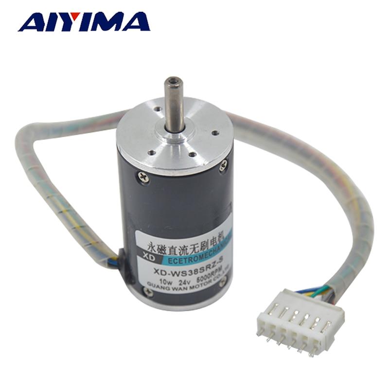 Aiyima 12V DC Brushless Motor 24V Speed Motor High Speed Small Motor Positive and Negative Motor Built - in Drive ff 050 dc high speed motor 7v