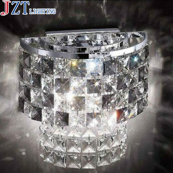 M Best Price E14 LED K9 Crystal Wall Lamp D18 H30cm Fashion Home Lighting Free Shipping