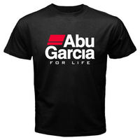 LEQEMAO New ABU GARCIA *FOR LIFE Fishinger Reel Men's White Black Size S To 2XL Pride of The Creature T Shirts Western Style