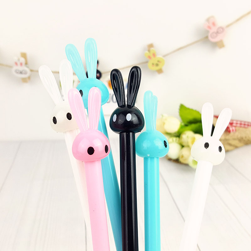 4pcs/lot Cute Cartoon neutral pen of rabbit jelly modelling stationery pen kawaii students school office supplies opening gifts 5packs lot 10 colors new cute cartoon colored gel pen set kawaii stationery gift office