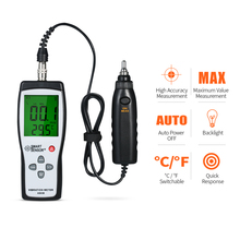 лучшая цена Vibrometer Acceleration Velocity Displacement Temperature Vibration Tester Detached Probe Vibration Meter Vibrator Analyzer