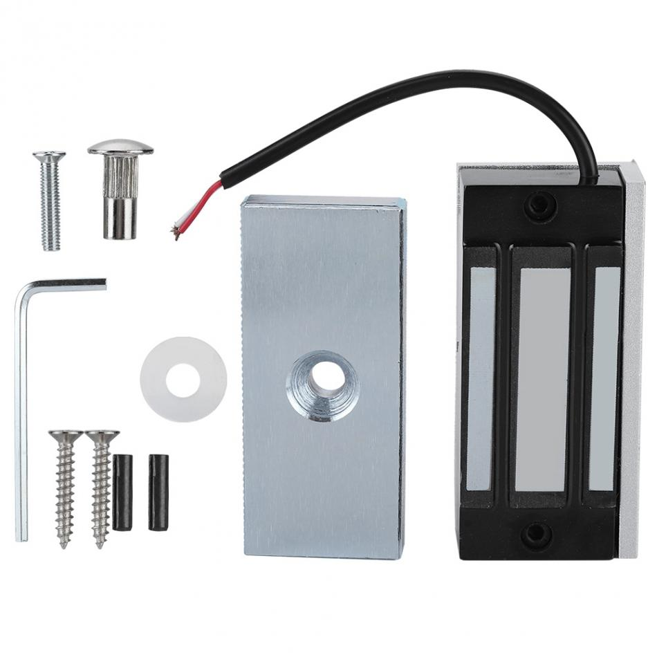 Electric Lock 60kg 120lbs Hold Force Mini Magnetic Lock Electric Lock For Single Door Disply Cabinet Electromagnetic Lock An Electromagnet Access Control