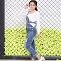 2017 Spring/Autumn New Fashion Maternity Jeans Pregnant Women Bib Pants Suspenders Trousers For Denim 316E